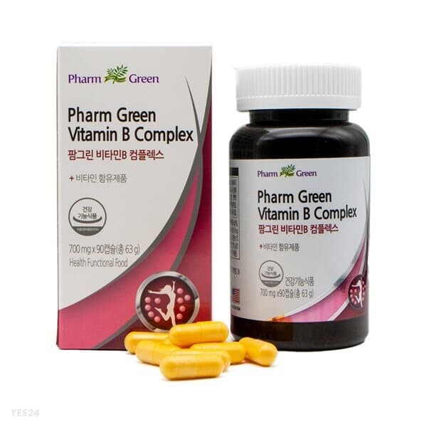 팜그린 비타민B 컴플레스 700mg x 90캡슐