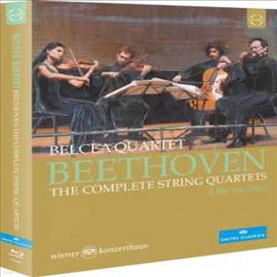 베토벤: 현악 사중주 전곡 1번 - 16번 (Beethoven: Complete String Quartets Nos.1 - 16) (4Blu-ray) (2020)(Blu-ray) - Belcea Quartet