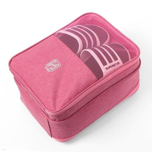 슈즈온 양면 멀티 신발파우치(핑크) / 여행용 가방