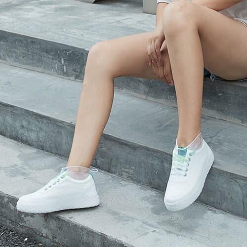 실리콘 방수 신발커버(180~220mm) (화이트)/ 방수덧신