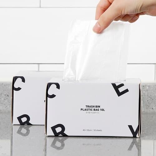 [홈앤하우스] 휴지통 비닐봉투 10L 100매(50매x2...