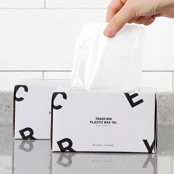 [홈앤하우스] 휴지통 비닐봉투 10L 100매(50매x2)
