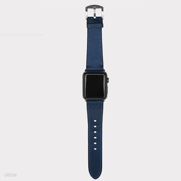 [출시할인40%이벤트]애플 워치 통가죽 스트랩 밴드(청록)WC97311.APPLE WATCH 1,2,3,4,5 호환