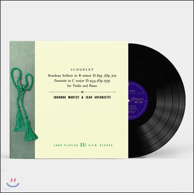 Johanna Martzy 슈베르트: 바이올린과 피아노를 위한 작품 3집 - 요한나 마르치 [LP]