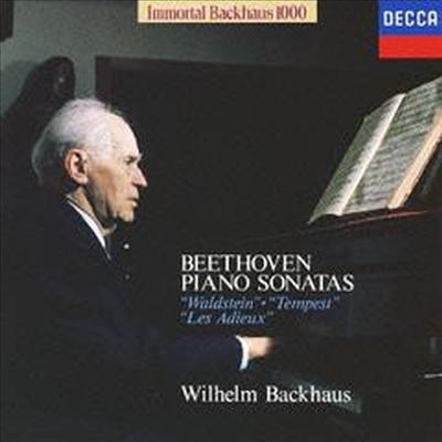 베토벤: 피아노 소나타 17 '템페스트', 21 '발트슈타인', 26번 '고별' (Beethoven: Piano Sonatas Nos.17 'Tempest', 21 'Waldstein', 26 'Les Adieux') (Ltd. Ed)(일본반) - Wilhelm Backhaus