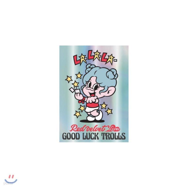 레드벨벳(Red Velvet Loves GOOD LUCK TROLLS) - HOLOGRAM POSTCARD_BLUE