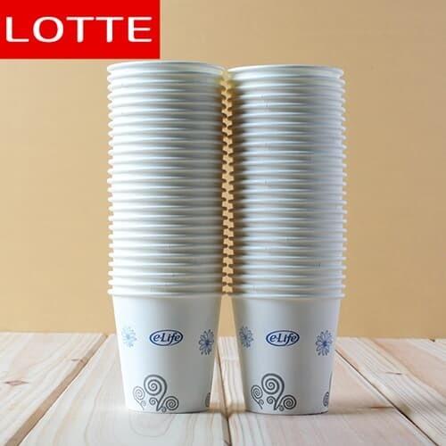 50p 롯데 종이컵(이라이프)(7cm)/위생컵 일회용종이컵