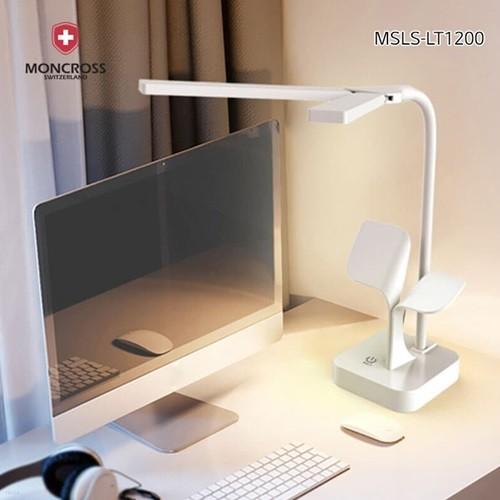 몽크로스 무선 LED 스탠드 MSLS-LT1200 시력보호 충전식 휴대용 학생 공부 책상스텐드 학습용 독서등 각도 밝기조절