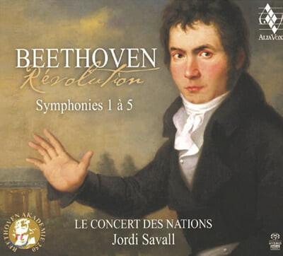 Jordi Savall 베토벤: 교향곡 1-5번 - 조르디 사발 (Beethoven: Symphony Opp.21, 36, 55, 60, 67)
