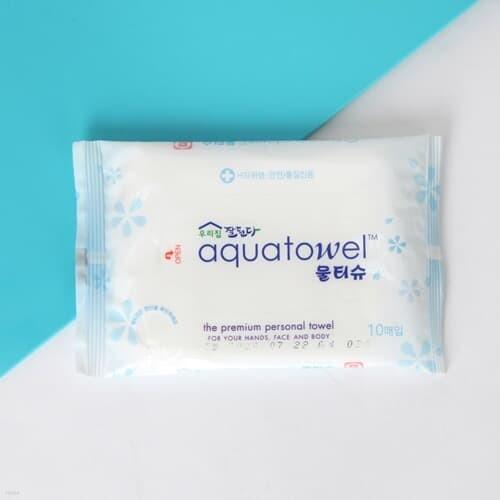 우리집 향균 휴대용 물티슈(10매) / 위생 아기물티슈