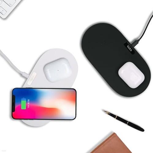바라 10W+10W 듀얼 고속 무선충전기 핸드폰 무선충전 패드형 스마트폰 삼성 아이폰 블랙 화이트