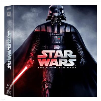 Star Wars: The Complete Saga - Episodes I-VI (스타 워즈: 에피소드 1-6) (한글무자막)(9Blu-ray)(Boxset) (1977)