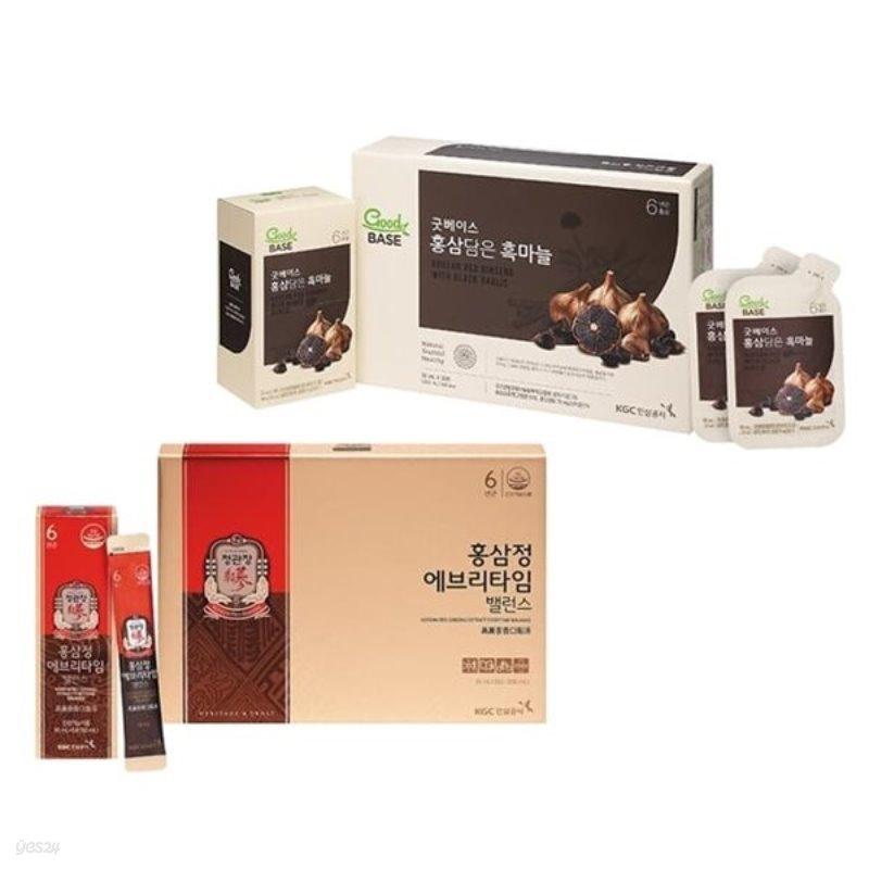 [정관장] 홍삼정 에브리타임 밸런스 20포 + 홍삼담은 흑마늘 30포