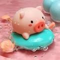 레츠토이 튜브타는 피기 목욕놀이 아기 물놀이 보트 물총 장난감