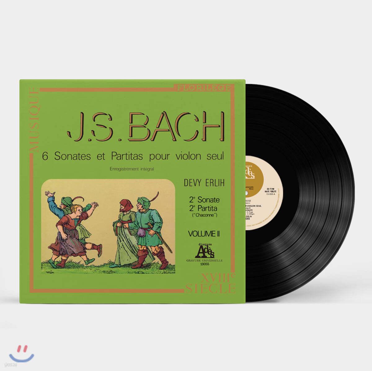 Devy Erlih 바흐: 무반주 바이올린을 위한 소나타와 파르티타 2집 - 드비 에를리히 [LP]