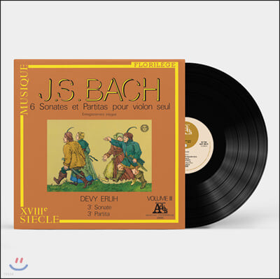 Devy Erlih 바흐: 무반주 바이올린을 위한 소나타와 파르티타 3집 - 드비 에를리히 [LP]