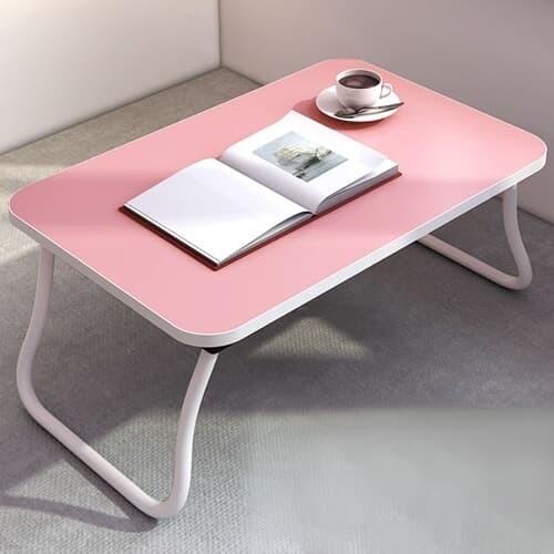 미니멀 접이식 좌식책상(핑크) / 노트북테이블