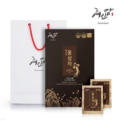 홍삼차 3g *100포 + 정품쇼핑백