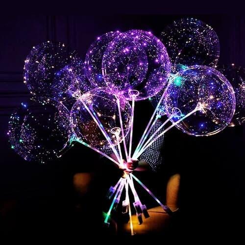 LED 투명풍선세트 케이스 파티용품 축제 이벤트 ...