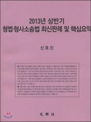 2013년 상반기 형법·형사소송법 최신판례 및 핵심요약
