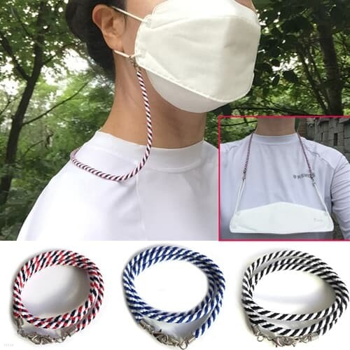 국내생산 휴대와 사용이 간편한 마스크목걸이 5p(색상랜덤)