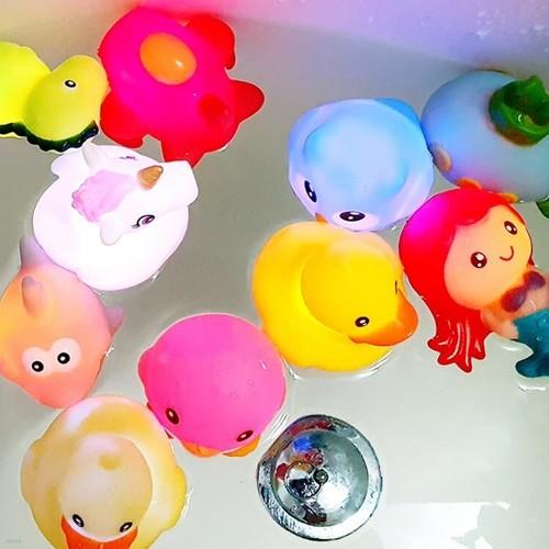 레츠토이 LED 목욕놀이 친구들 3개세트 4종 아기 유아 물놀이 목욕장난감