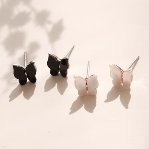 제이로렌 04M01540 크림빛 컬러감 자개 나비귀걸...