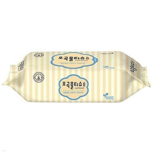 깨끗한나라)오곡물티슈(100매/리필형)