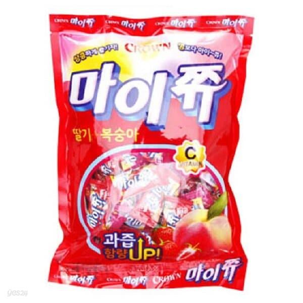 크라운)마이쮸(딸기복숭아)