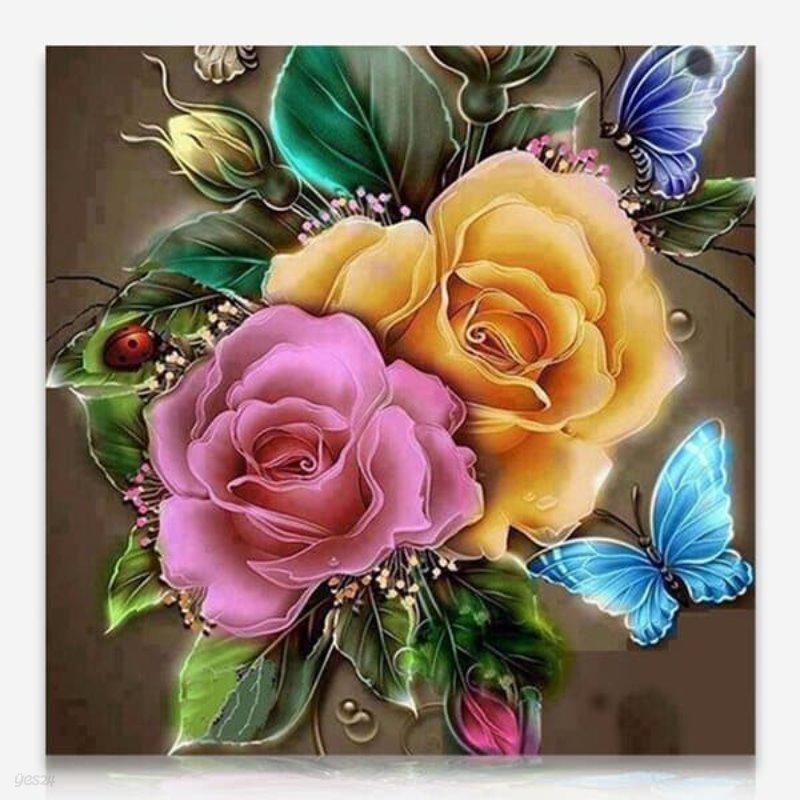 빛나는 장미 DIY 보석십자수 십자수 비즈세트