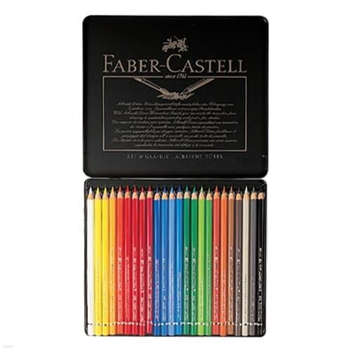 파버카스텔)전문 수채색연필(24색/틴케이스/117524)