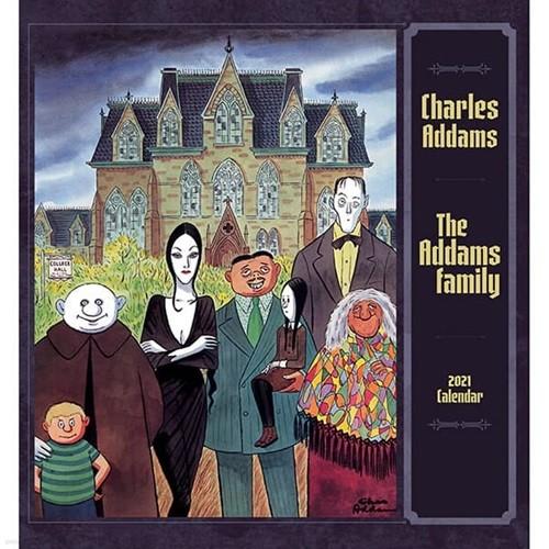 2021년 캘린더 Charles Addams: The Addams Fami...
