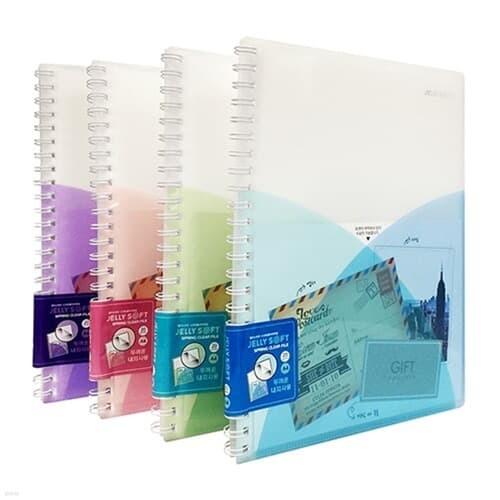 문화)젤리소프트 스프링클리어화일 20매(JS4420-...