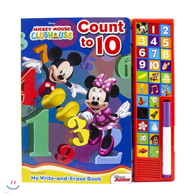 Disney Mickey Mouse Clubhouse: Count to 10: My Write-and-Erase Book