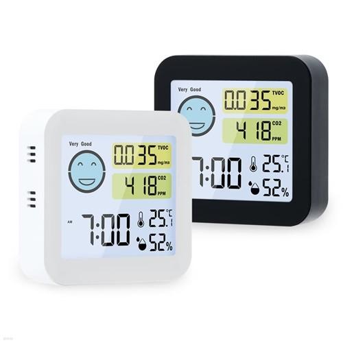 [노바리빙]프리미엄 공기질 측정 온습도계 ML745, 2colors