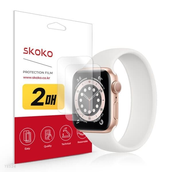 스코코 애플워치SE 40mm 리얼핏 액정보호필름 2매