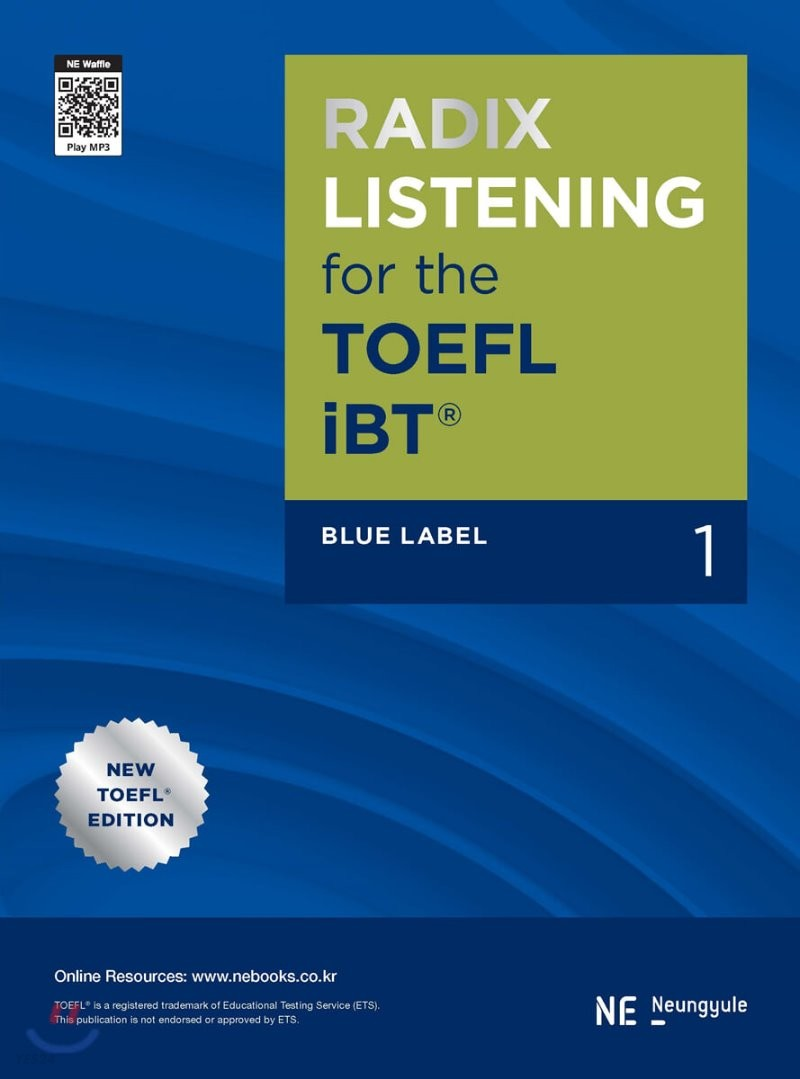 RADIX LISTENING for the TOEFL iBT Blue Label 1