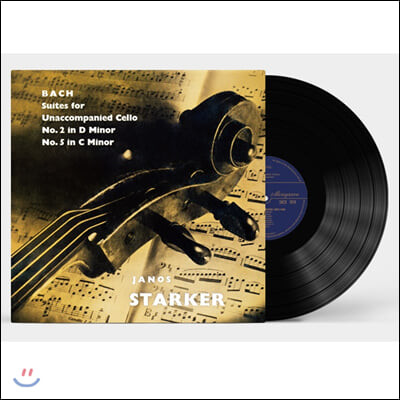 Janos Starker 바흐: 무반주 첼로 모음곡 1집 2번, 5번 - 야노스 슈타커 [LP]
