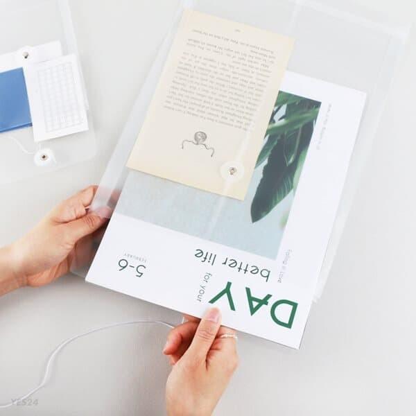 하도메 PVC 파우치 봉투 A6/A4 [반투명 파일 스티커 떡메 포카 보관 인스 케이스]