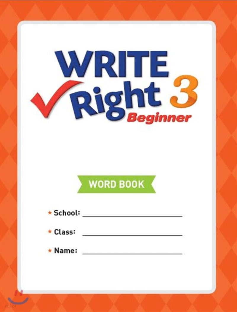 Write Right Beginner 3 Word Book