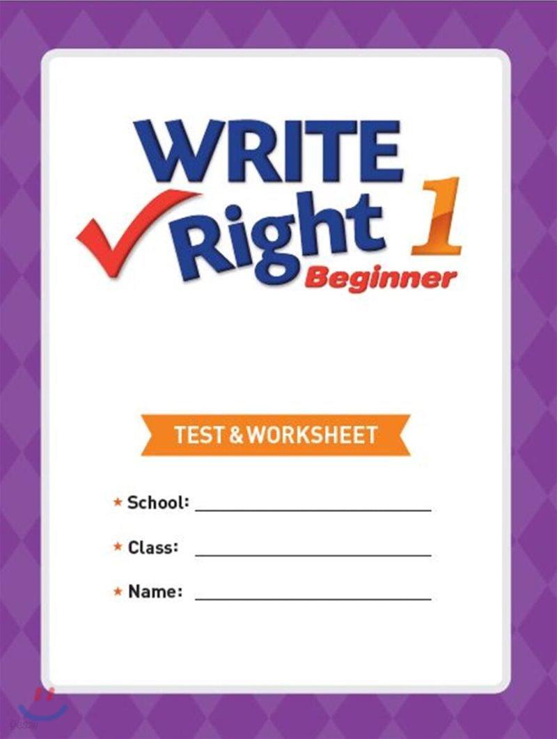 Write Right Beginner 1 Test & Worksheet