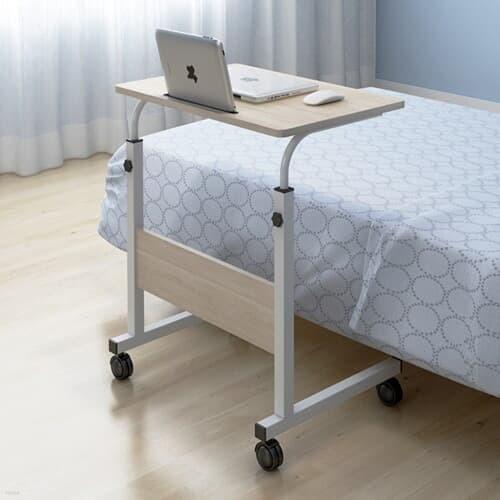 이동식 태블릿거치가능 높이조절 침대 소파 거실 사이드 테이블 600*400