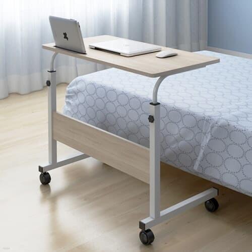 이동식 태블릿거치가능 높이조절 침대 소파 거실 사이드 테이블 800*400