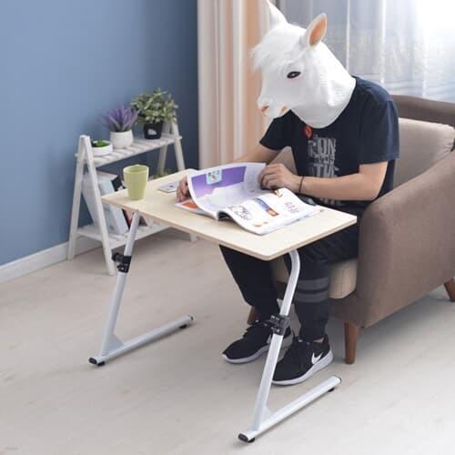 이동식 접이식 높이조절 침대 소파 거실 사이드 노트북 테이블 600*400