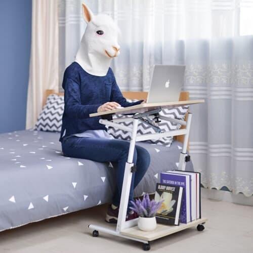 높이각도조절 거실 침대 사이드테이블 하단수납가능
