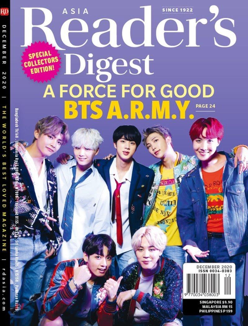 Reader's Digest Asia (월간) : 2020년 12월 (방탄소년단 커버)