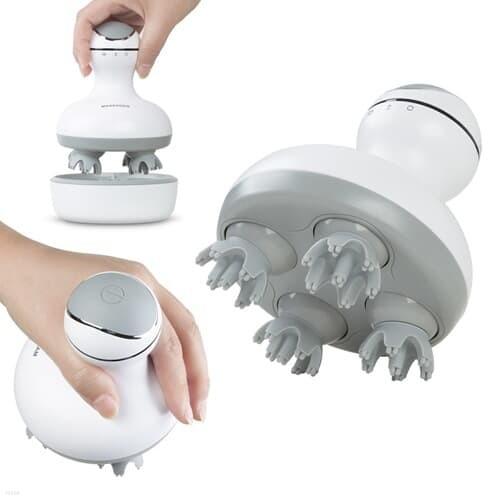 방수 충전식 무선 두피 마사지기 안마기 두피각질제거 샤워중사용가능