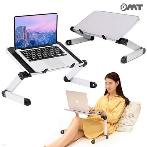 누워보고 앉아보는 2단관절 접이식 대형 노트북 테이블 17인치/500*260