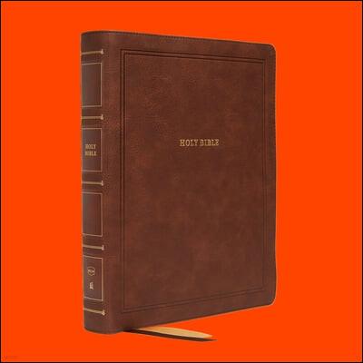 Nkjv, Reference Bible, Wide Margin Large Print, Leathersoft, Brown, Red Letter Edition, Comfort Print: Holy Bible, New King James Version