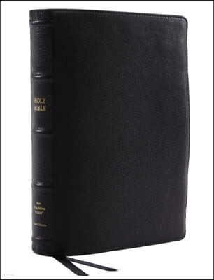 Nkjv, Reference Bible, Wide Margin Large Print, Premium Goatskin Leather, Black, Premier Collection, Red Letter Edition, Comfort Print: Holy Bible, Ne
